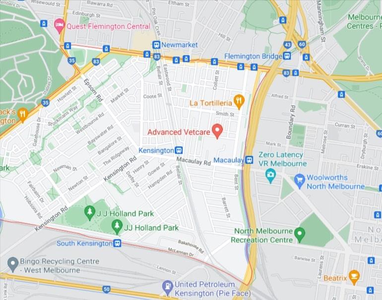 Kensington Map Area