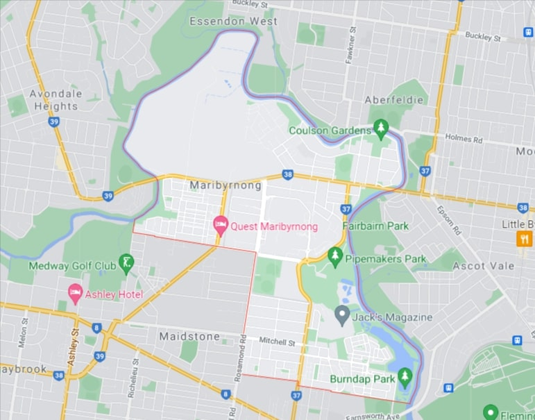 Maribyrnong Map Area